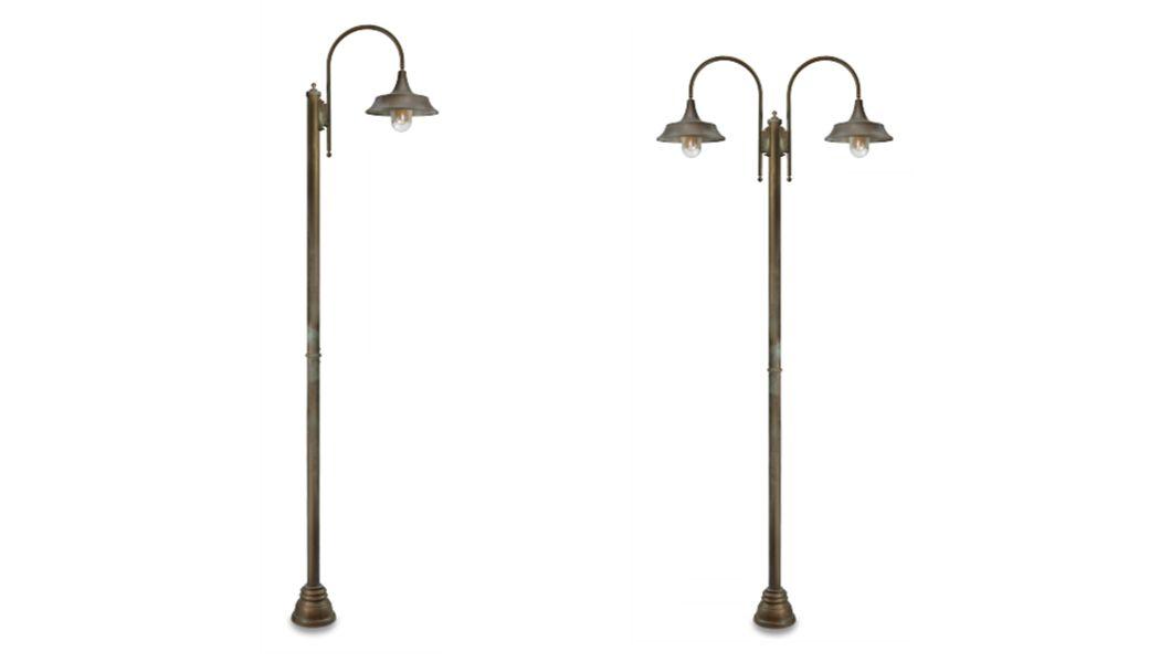 Moretti Luce Lampadaire de jardin Réverbères lampadaires Luminaires Extérieur  |