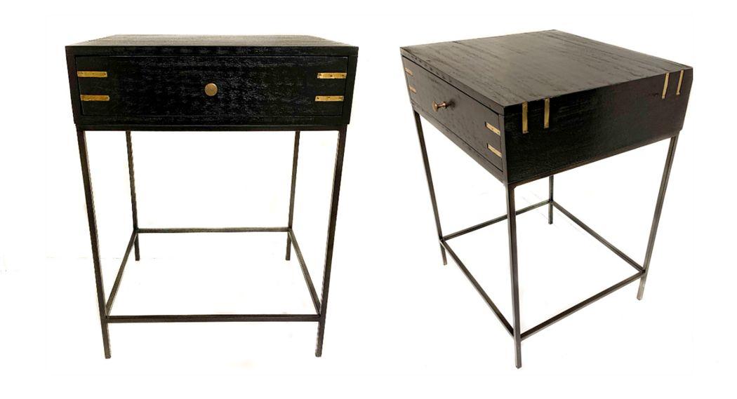 THG Home & Interior Table de chevet Chevets Lit  |