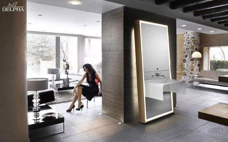 Miroirs de salle de bains bain sanitaires decofinder - Grand miroir salle de bain lumineux ...