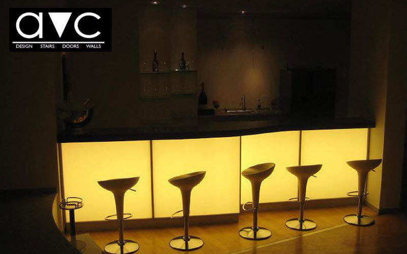 Avc Comptoir de bar lumineux Bars Tables & divers Lieu de travail | Design Contemporain
