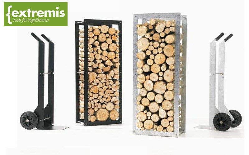 Porte buches accessoires de chemin e decofinder - Rangement buche de bois interieur ...