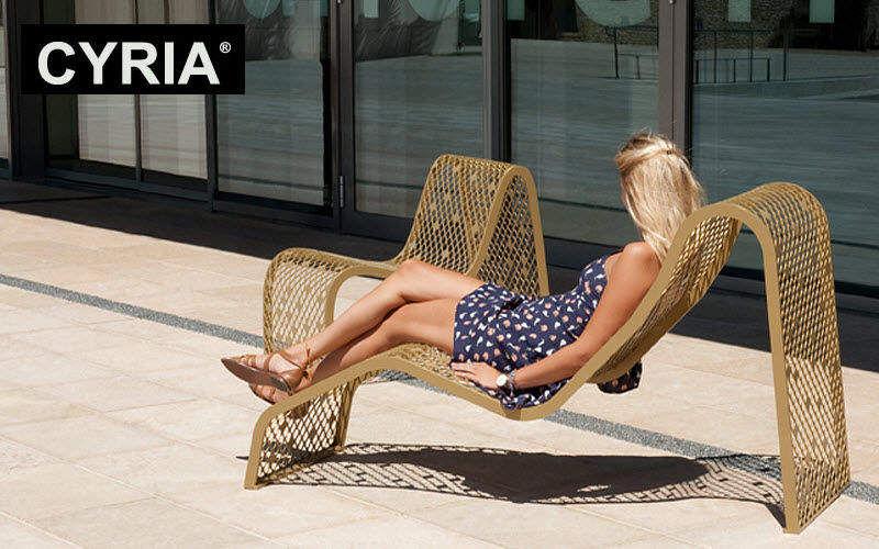 CYRIA Chaise longue urbaine Mobilier urbain Extérieur Divers  |