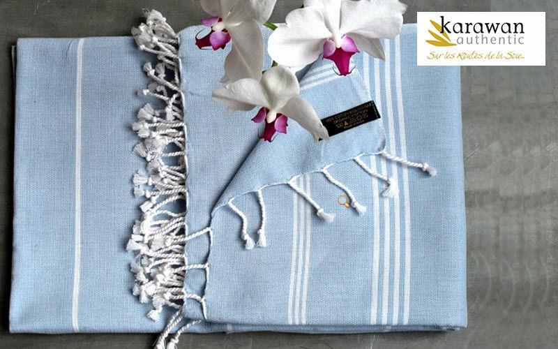 KARAWAN AUTHENTIC Fouta serviette de hammam Linge de toilette Linge de Maison  |