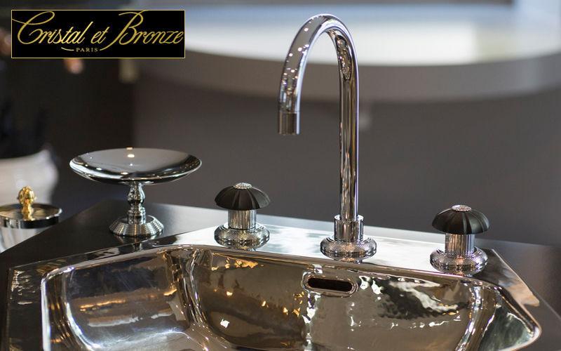 Cristal Et Bronze Mélangeur lavabo 3 trous Robinetterie Bain Sanitaires  |