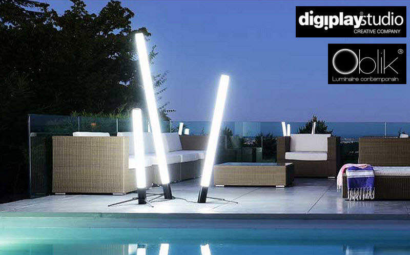 DIGIPLAY Lampadaire de jardin Réverbères lampadaires Luminaires Extérieur  |
