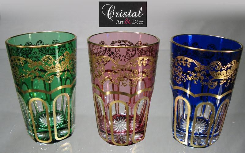 Cristal art deco Verre à thé Verres Verrerie  |