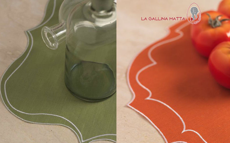 LA GALLINA MATTA Set de table Sets de table Linge de Table  |