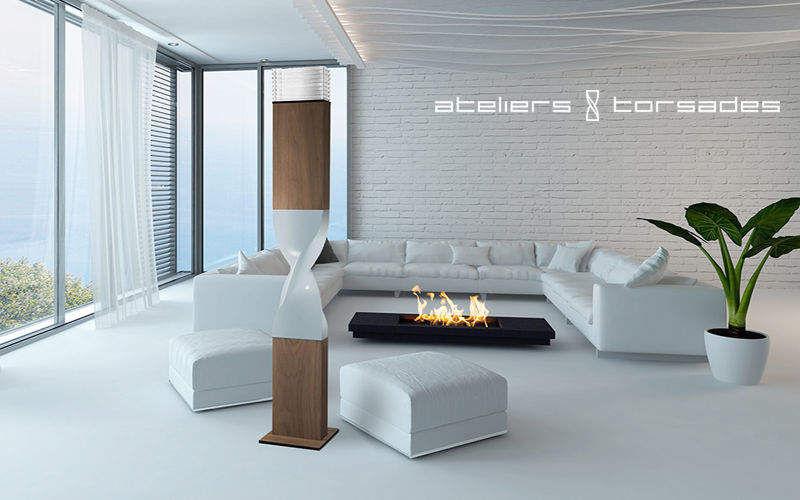ATELIERS TORSADES Lampadaire Lampadaires Luminaires Intérieur Salon-Bar | Design Contemporain