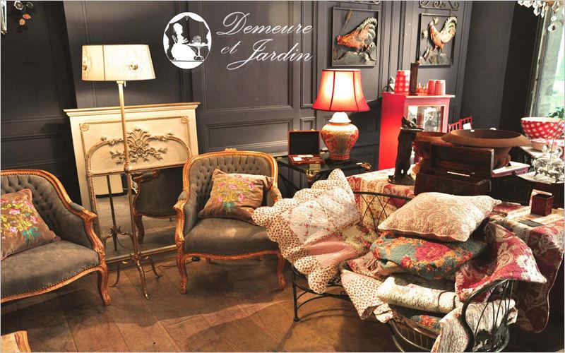Demeure et Jardin Coussin carré Coussins Oreillers Linge de Maison Salon-Bar | Charme