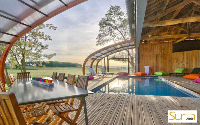 Sun Abris Abri de piscine haut coulissant ou télescopique Abris de piscine et spa Piscine et Spa  |