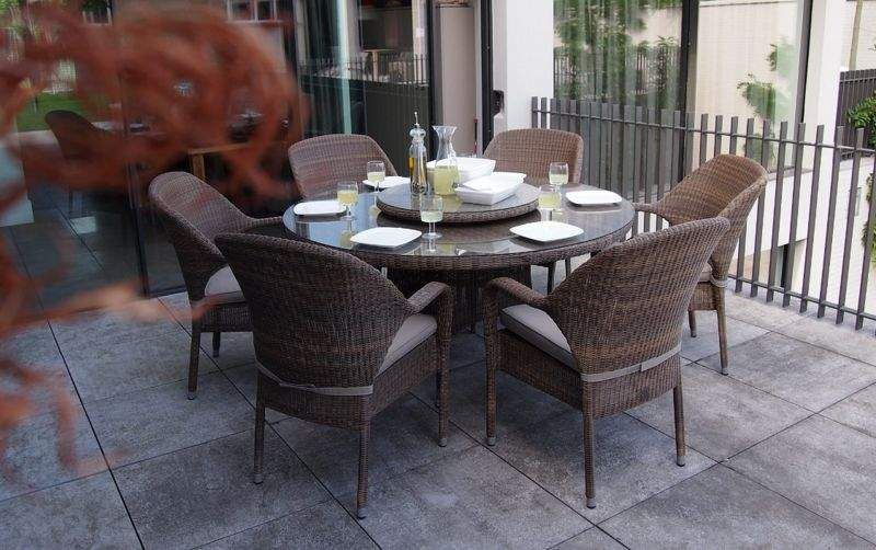 4 SEASONS OUTDOOR Salle à manger de jardin Tables de jardin Jardin Mobilier  |