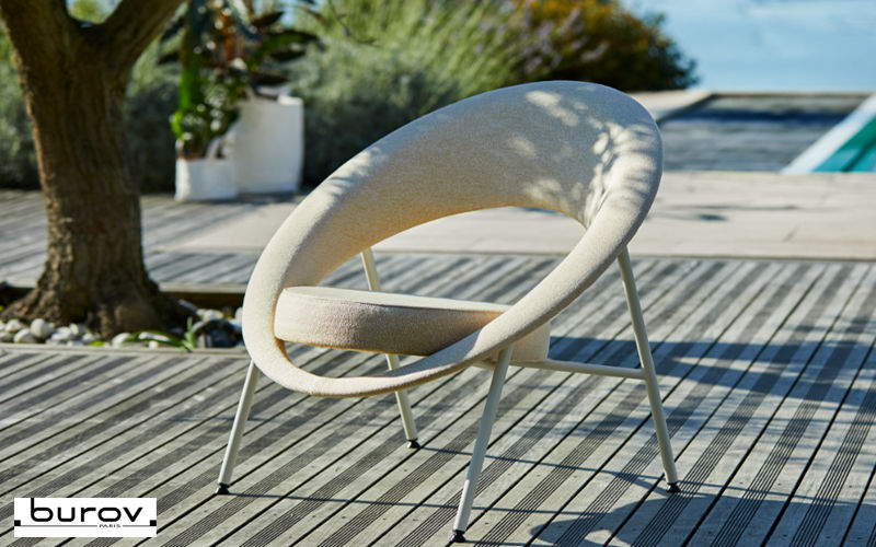 Burov Fauteuil de jardin Fauteuils d'extérieur Jardin Mobilier Jardin-Piscine | Design Contemporain