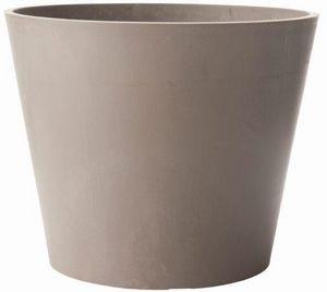 MARC VERDE - pot rond amsterdan gris en polyéthylène 40x33,3cm - Cache Pot