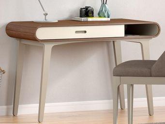 WHITE LABEL - table à écrire - fifty - l 110 x l 55 x h 78 - boi - Bureau
