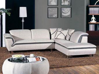 WHITE LABEL - canapé avec méridienne - tylio - l 275 x l 223 x h - Canapé Modulable
