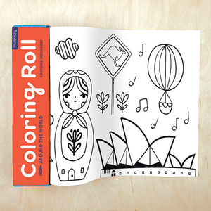 BERTOY - coloring roll around the world - Cahier De Coloriage