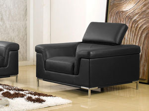 WHITE LABEL - fauteuil cuir rania - Fauteuil
