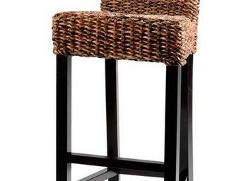 MEUBLES ZAGO - chaise de bar abaca cuzco - Chaise Haute De Bar