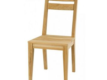 MEUBLES ZAGO - chaise teck sablé cosmos - lot de 2 - Chaise