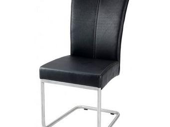 MEUBLES ZAGO - chaise hakone noire - lot de 2 - Chaise