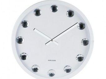 Karlsson Clocks - karlsson - horloge big diamond - karlsson - blanc - Horloge Murale