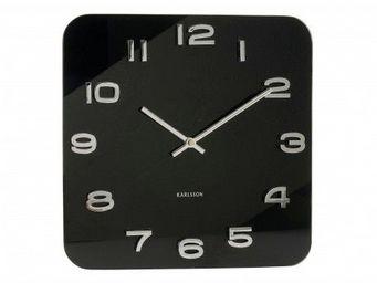 Karlsson Clocks - karlsson - horloge carr� vintage - karlsson - noir - Horloge Murale