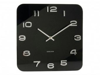 Karlsson Clocks - karlsson - horloge carré vintage - karlsson - noir - Horloge Murale