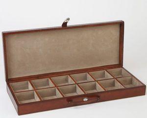 LIFE OF RILEY - leather cufflink case - Coffret À Bijoux