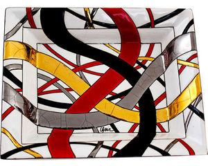 Emaux De Longwy - cendrier rectangulaire montagnes russes - Vide Poche