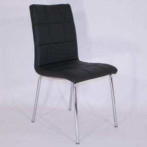 Smart Boutique Design - chaises simili cuir matelassées batz noires lot de - Chaise