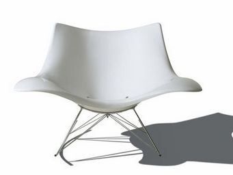 Fredericia - stingray blanc - Rocking Chair
