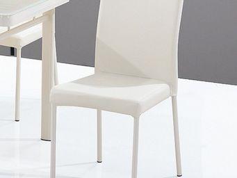 CLEAR SEAT - chaises luna blanc crème lot de 4 - Chaise