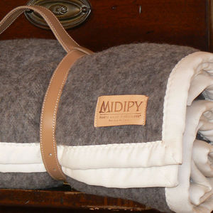 MIDIPY - plaid laine brun 1/2 ton, en haute laine pyrénéenn - Plaid