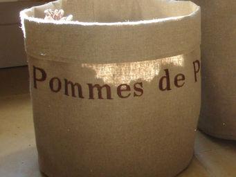 L'atelier D'anne - sac de rangement en tissu pommes de pin - Sac De Rangement