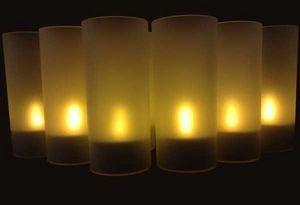 SUNCHINE - 6 bougies led fonction souffle - Bougie D'extérieur