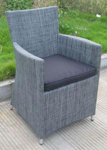 TRAUM GARTEN - fauteuil de jardin en textilène gris anthracite 60 - Fauteuil De Jardin