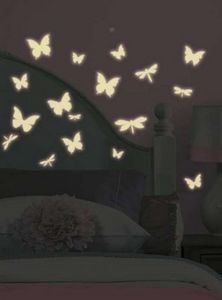 RoomMates - stickers phosphorescents repositionnables papillon - Sticker