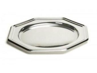 Adiserve - sous-assiette octo argent 30,5cm par 4 couleurs ar - Vaisselle Jetable