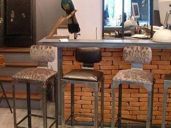 GHISLAIN ANTIQUES -  - Chaise Haute De Bar