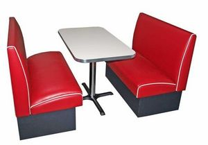 US Connection - set diner: 2 banquettes soda fountain - Coin Repas