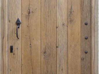 Portes Anciennes - porte de mas en vieux ch�ne - Porte D'entr�e Pleine