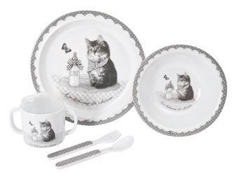 Mathilde M - mon premier coffret repas le biberon de chaton - Assiette Enfant