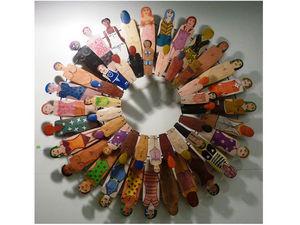 ART UNIC - roue des femmes - Décoration Murale
