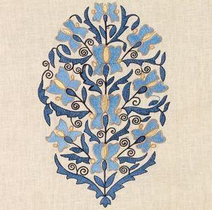 Vaughan - embroidered linen - Tissu D'ameublement