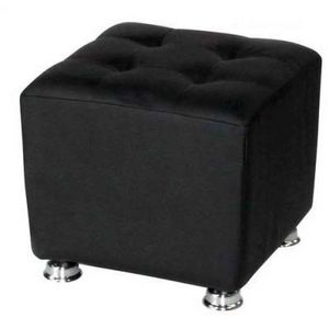 International Design - pouf carré blanc/noir - Pouf