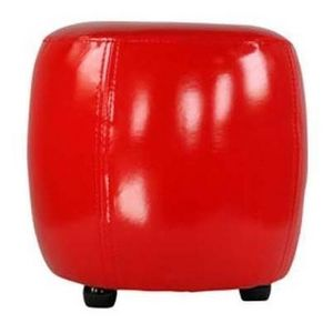 International Design - pouf rond pvc - couleur - rouge - Pouf