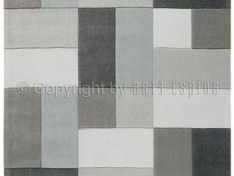 Arte Espina - tapis de salon reflective 4 gris 140x200 en acryli - Tapis Contemporain