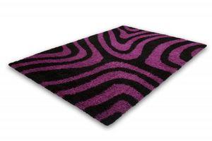 NAZAR - tapis chillout 120x170 black-violet - Tapis Contemporain