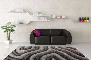 NAZAR - tapis avantgarde 160x230 silver - Tapis Contemporain