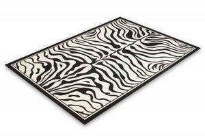 NAZAR - tapis contempo 80x250 black-white - Tapis Contemporain